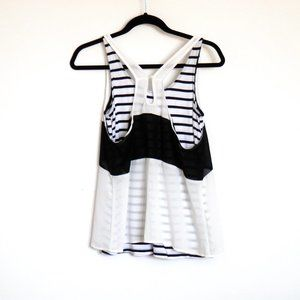 Tops - Layered 2 in 1 Top Stripes Size M Women Like New